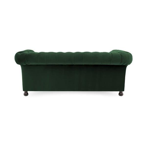 Canapea 3 locuri Vivonita Chesterfield, verde închis