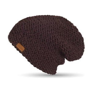 Tmavě fialová ručně pletená čepice DOKE Dona