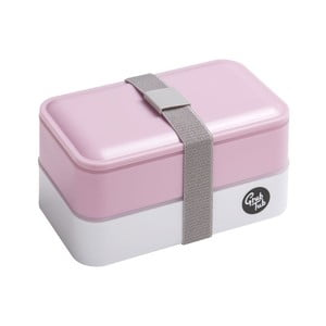 Světle růžový svačinový box Premier Housewares, 12 x 10 cm