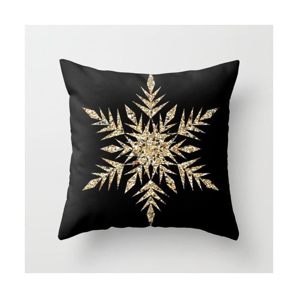 Povlak na polštář Snowflake Gold, 45x45 cm