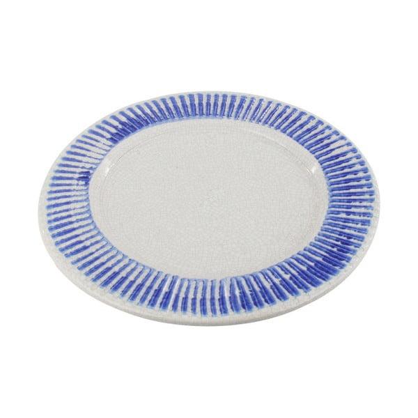 Keramický talíř InArt Stripes, 40,5 cm