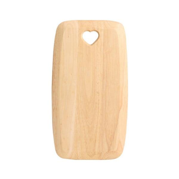 Tocător din lemn de arbore de cauciuc T&G Woodware Colonial Home, 27,5 x 15 cm