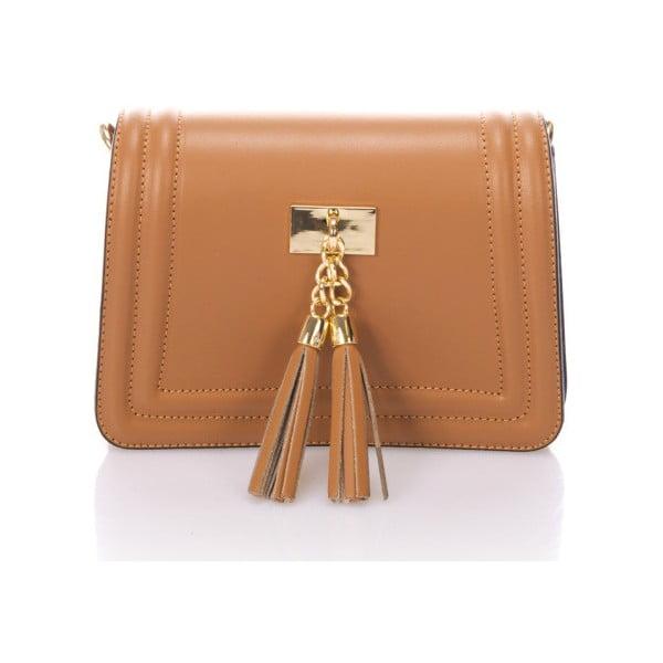 Koňakově hnědá kožená kabelka Giorgio Costa Abelia