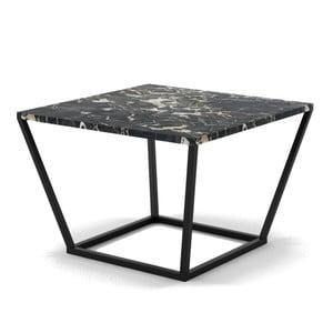 Măsuță din marmură, Absynth Noi Italy, negru cu picioare negre