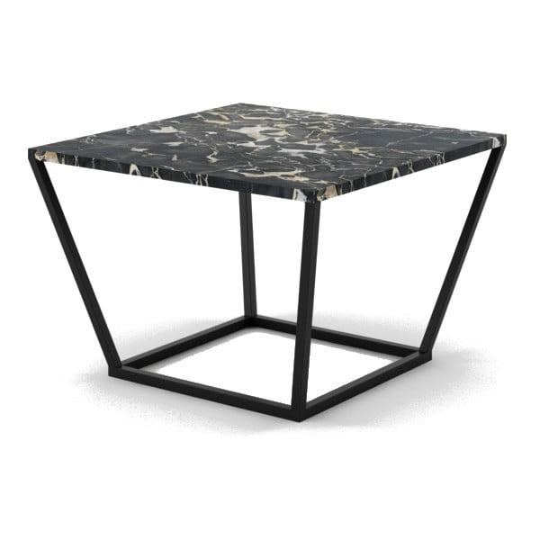 Malý černý konferenční stůl z mramoru s černým podnožím Absynth Noi Italy