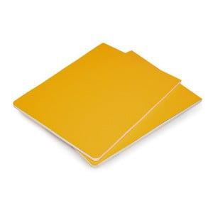 Sada 2 žlutých bloků Moleskine Volant