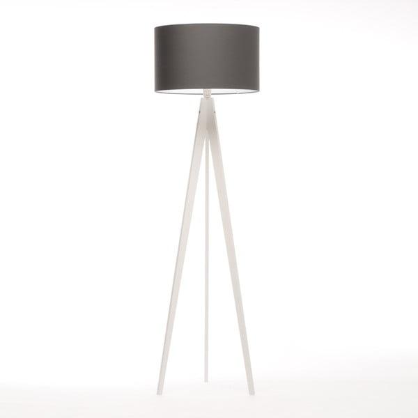 Černá stojací lampa 4room Artist, bílá bříza lakovaná, 150 cm