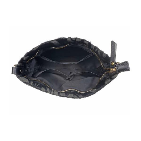 Kožená menší kabelka Moon Fan Black
