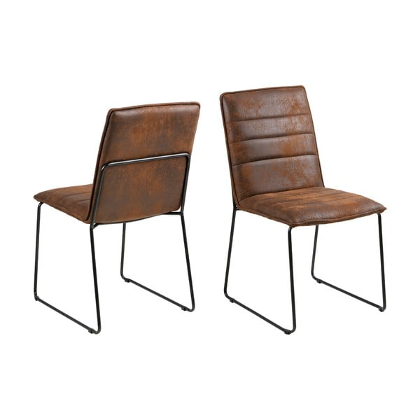 Hnedá jedálenská stolička Actona Kitos