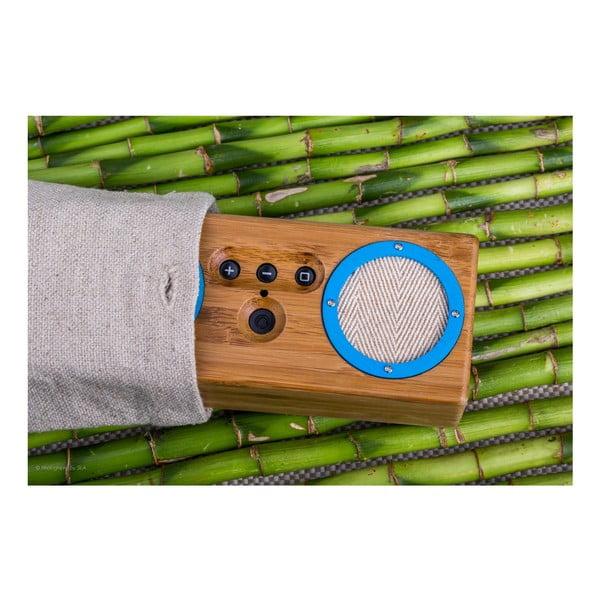 Přenosný bambusový speaker Black on Black Bongo