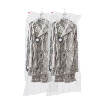 Set 2 saci cu vid de agățat pentru haine Compactor Espace,70 x 145 cm imagine