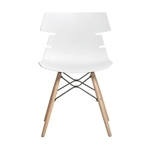 Sada 4 bílých jídelních židlí Marckeric Iris