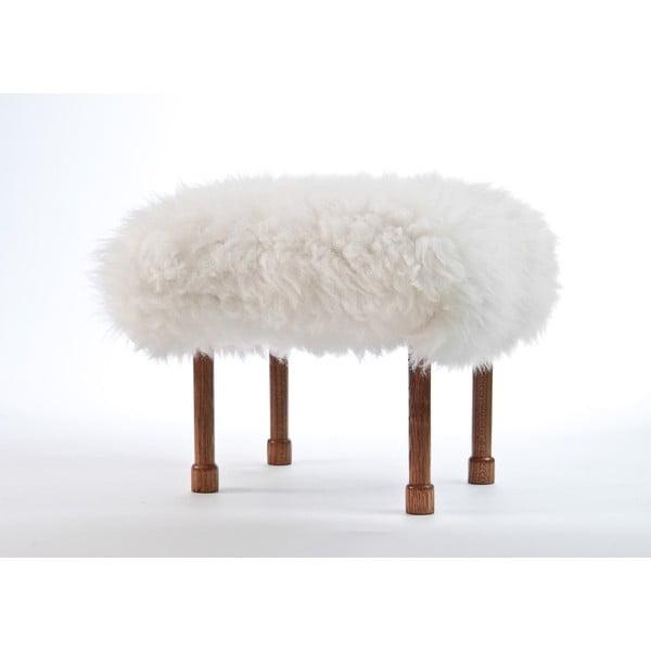 Stolička z ovčí kůže Myfanwy Ivory
