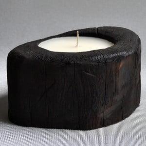 Palmová svíčka Legno Palm s vůní vanilky a pačuli, 70 hodin hoření