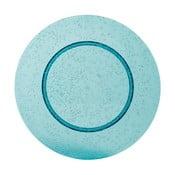 Modrý plastový talíř Navigate Bubble