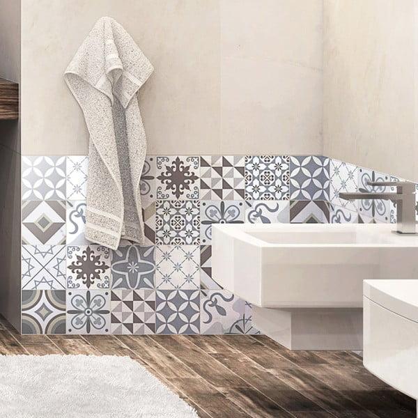 Set 24 autocolante Ambiance Mosaic Portugal, 15 x 15 cm