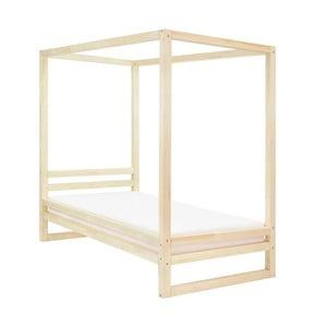 Dřevěná jednolůžková postel Benlemi Baldee Naturaleza, 190x90cm