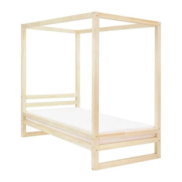 Drevená jednolôžková posteľ Benlemi Baldee Naturaleza, 190 × 90 cm