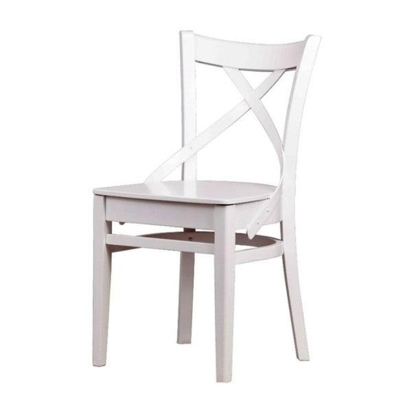 Bílá jídelní židle Durbas Style Valentino
