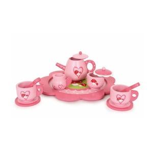 Růžový čajový set Legler Toadstool