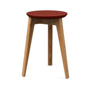 Bambusová stolička s červeným sedátkem z bukového dřeva We Do Wood Button