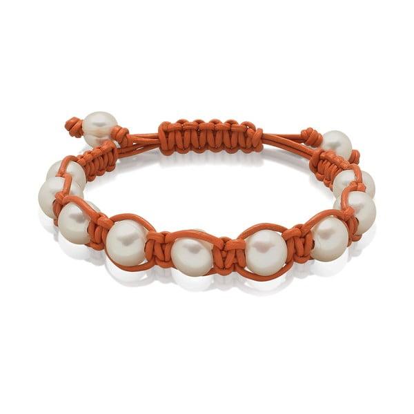 Oranžový perlový náramek Nova Pearls Copenhagen Mara de Vida