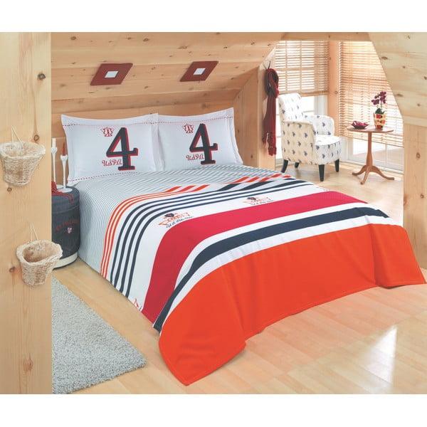 Set přehozu přes postel a prostěradla U.S. Polo Assn. Broomsville,200x220cm