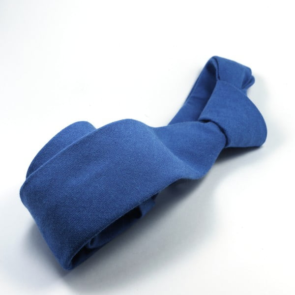 Modrá kravata chambray