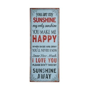 Cedule You are my happy sunshine, 76x31 cm