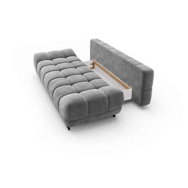 Canapea extensibilă cu înveliș de catifea cu 3 locuri Windsor & Co Sofas Cirrus, gri