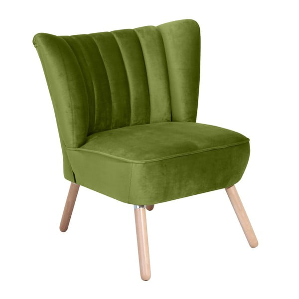 Zielony fotel Max Winzer Alessandro Suede