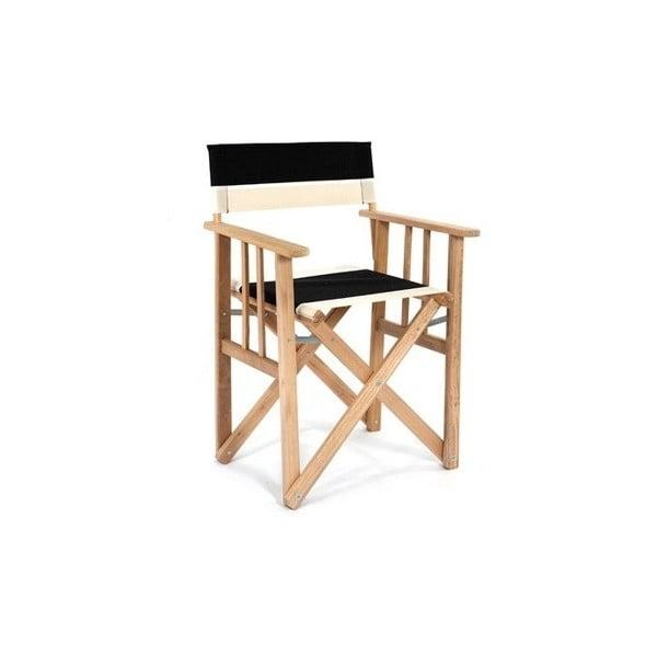 Skládací židle Director, černobílá