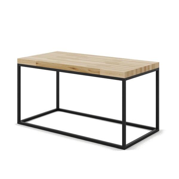 Velký konferenční stůl z dubového dřeva s černým podnožím Absynth Noi