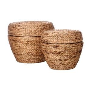 Sada 2 košíků s víkem J-Line Hyacinth