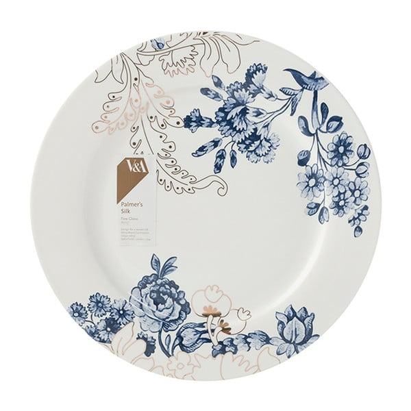 Porcelánový talíř s modro-zlatými vzory Creative Tops, Ø26 cm