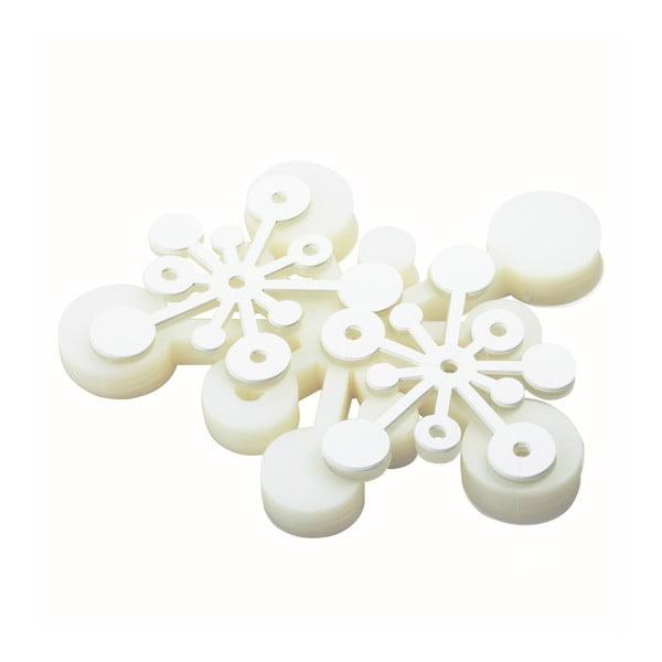Bubble závěs, 100x200 cm, bílá