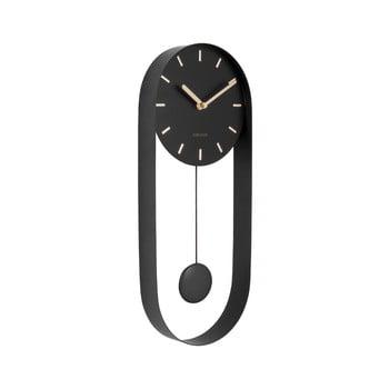 Ceas de perete cu pendul Karlsson Charm, negru imagine
