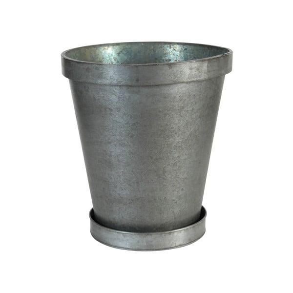 Round fém virágtartó tálkával - Antic Line