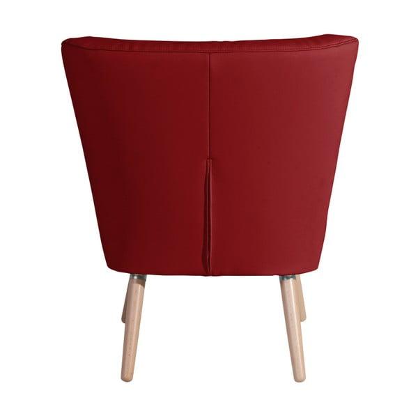 Červené křeslo Max Winzer Neele Leather Chili