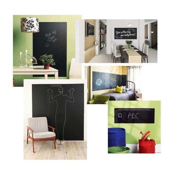 Univerzální tabulová samolepka Blackboard + 5 kříd, 60x200 cm
