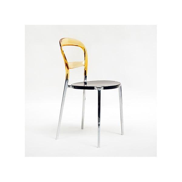 Židle Thalassa Alu Amber/Black