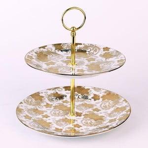 Porcelánový stojan Gold Flowers