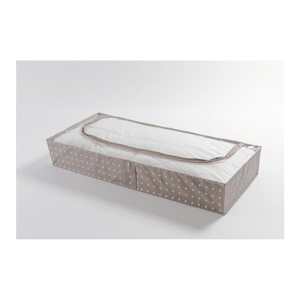 Malý béžový úložný box Compactor Dots, 46 × 107 cm