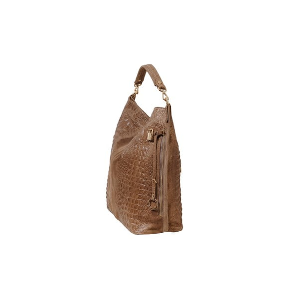 Světle hnědá kožená kabelka Andrea Cardone 2011
