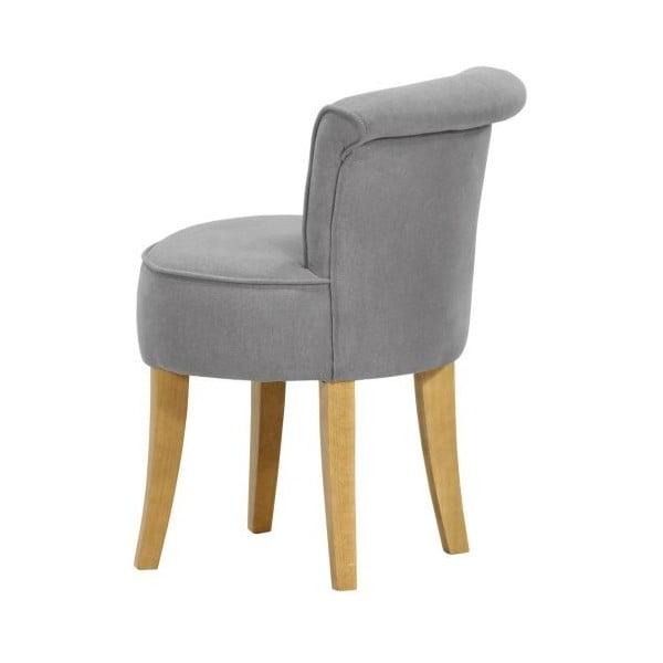 Sada 2 židlí George Soro Grey se žlutými knoflíky