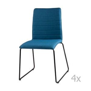 Sada 4 tmavě modrých jídelních židlí sømcasa Vera
