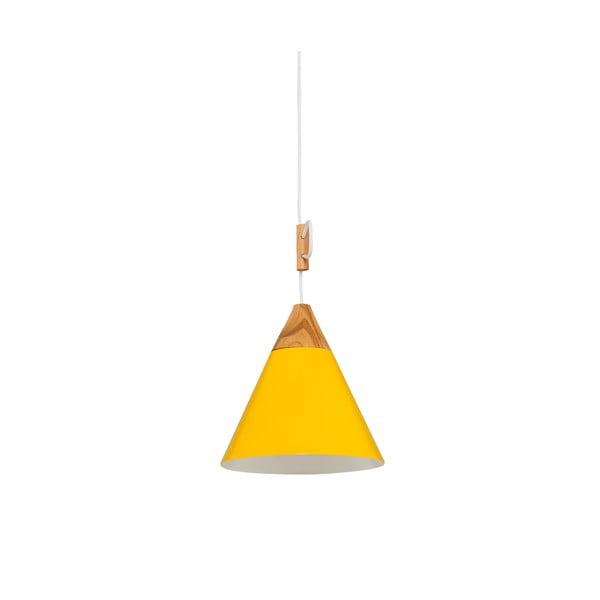 Závěsné svítidlo Tomas S, žluté