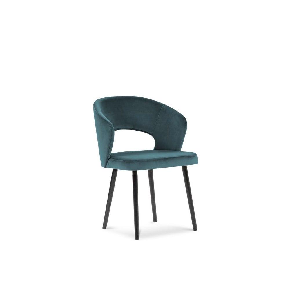 Produktové foto Petrolejově modrá jídelní židle se sametovým potahem Windsor & Co Sofas Elpis