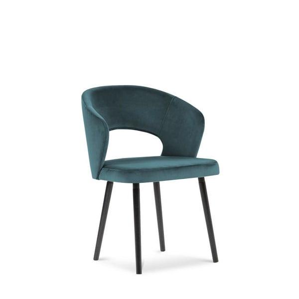 Petrolejově modrá jídelní židle se sametovým potahem Windsor & Co Sofas Elpis