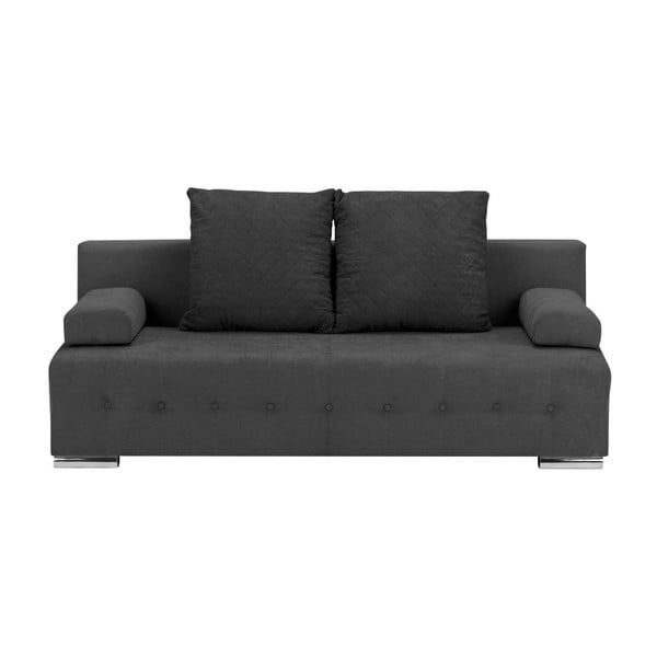 Suzanne sötétszürke háromszemélyes kanapé ágyneműtartóval - Melart